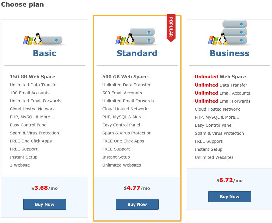 we do web hosting and email hosting